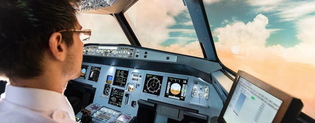 Sesja na symulatorze lotu samolotem w Lille