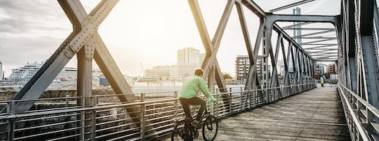 Private guided bike tour to mysterious places of Hamburg