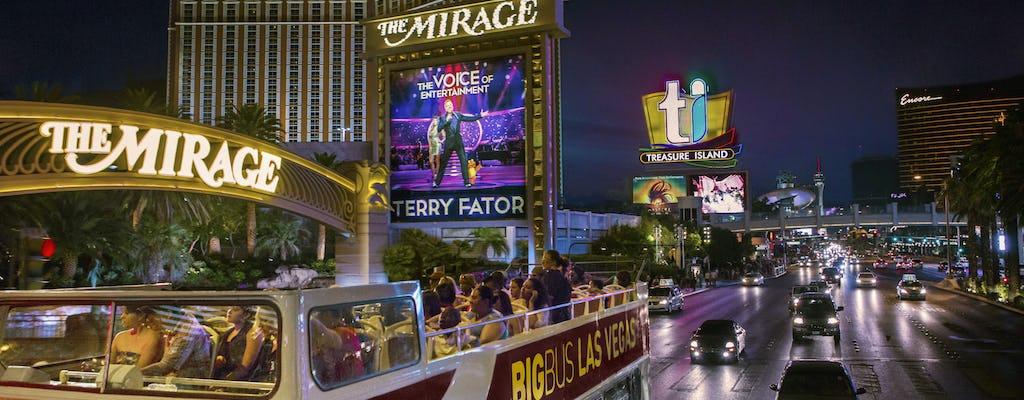 Tour panorâmico noturno do Big Bus em Las Vegas