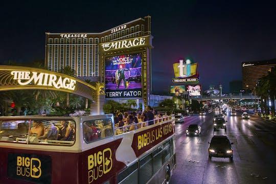 Tour nocturno panorámico por la ciudad de Big Bus Las Vegas