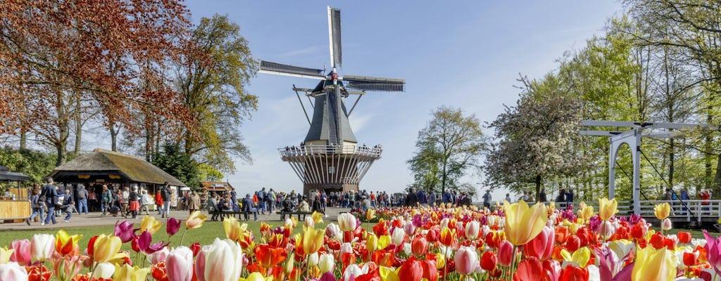 Excursión de un día a los campos de flores de Keukenhof, Volendam y molinos de viento