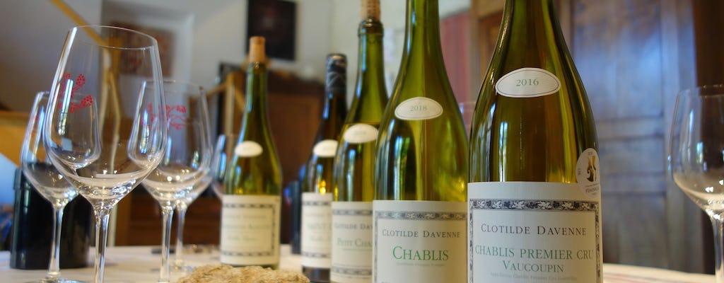 Sessão de degustação de vinhos Chablis no Domaine Clotilde Davenne