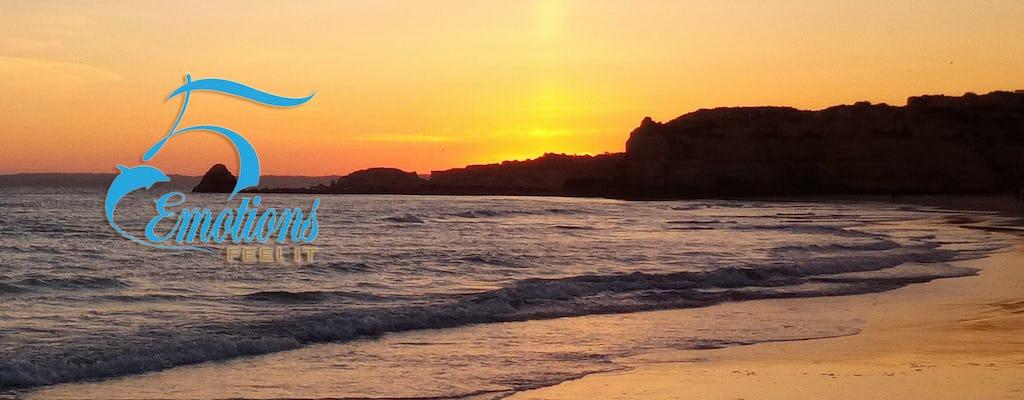 Algarve boat tour at sunset