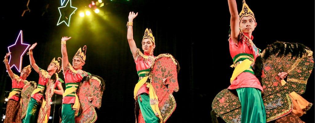 Dança da cultura malaia com jantar buffet e visita a Chinatown