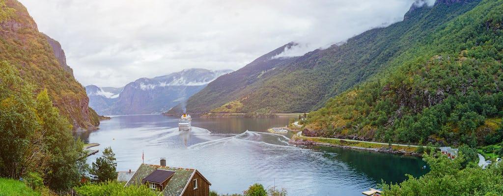 Viagem autoguiada de ida e volta de Bergen a Sognefjord com a ferrovia Flam