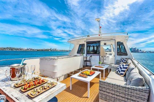 Vivid Sydney Festival catamaran cruise with canapés