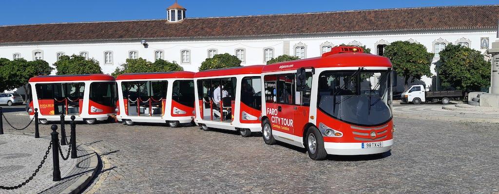 Faro ein- und aussteigen mit dem Touristenzug