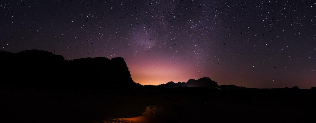 Avventura per osservare le stelle nel Wadi Rum