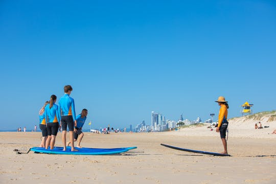 2 horas de introdução à sessão de surf