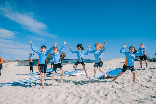 Enfants seulement introduction à la session de surf