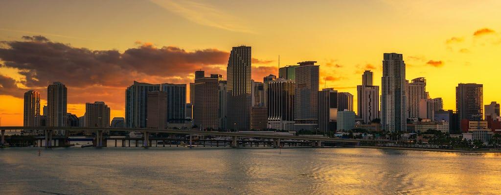 Miami happy hour sightseeing cruise bij zonsondergang