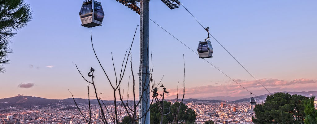 Montjuïc Cable Car tickets with self-guided audio tour