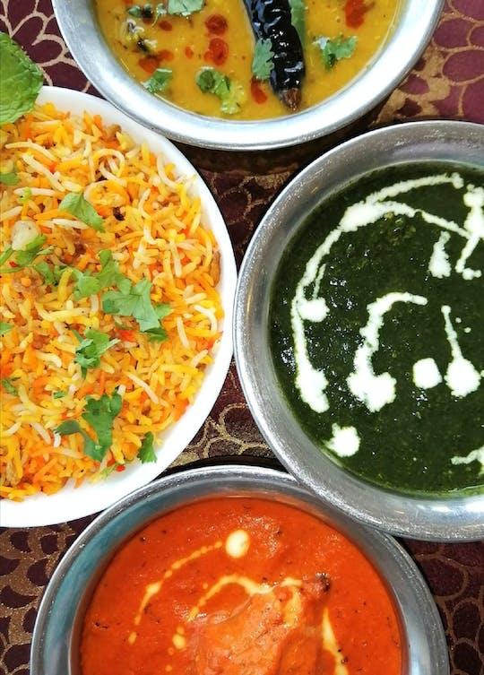 Essen im Bhandari's Saffron
