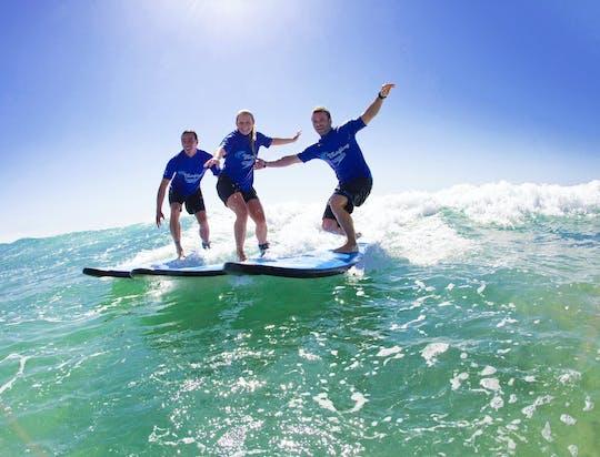 Beginner surf lesson in Ballina