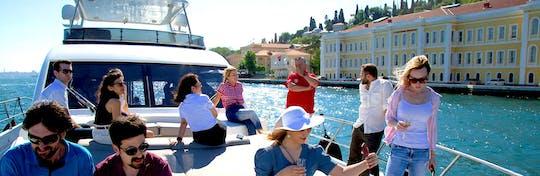 Bosphorus Luxury Yacht Cruise at Sunset with Snacks & Drinks