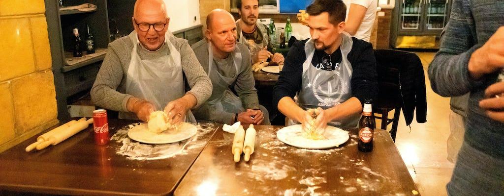 Massas frescas de Nápoles e aula de ravióli em restaurante autêntico