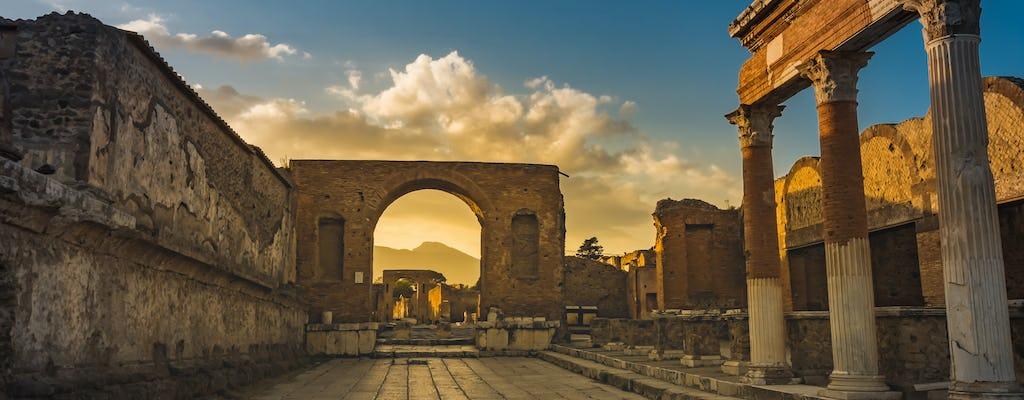 Prioritaire toegang tot Pompeii met transfer vanuit Napels