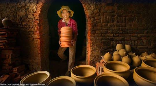 Passeio de barco pelas vilas de artesanato de Hoi An e aula de fabricação de lanternas
