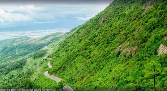 As montanhas de mármore de um dia inteiro e a Península de Son Tra via Hai Van Pass de Danang em veículos 4x4
