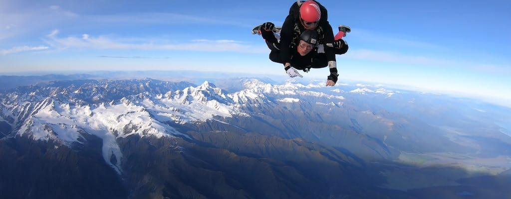 Tandem skydive 16,500ft above Franz Josef and Fox Glaciers