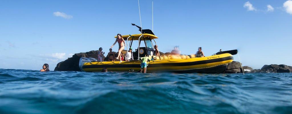 Privater Bootscharter an der Nordküste von Oahu