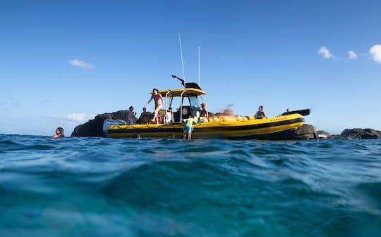 Fretamento de barco privado na costa norte de Oahu