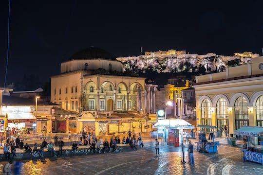 Prywatna wycieczka po Atenach w nocy z degustacją wina, koktajli i alkoholi?