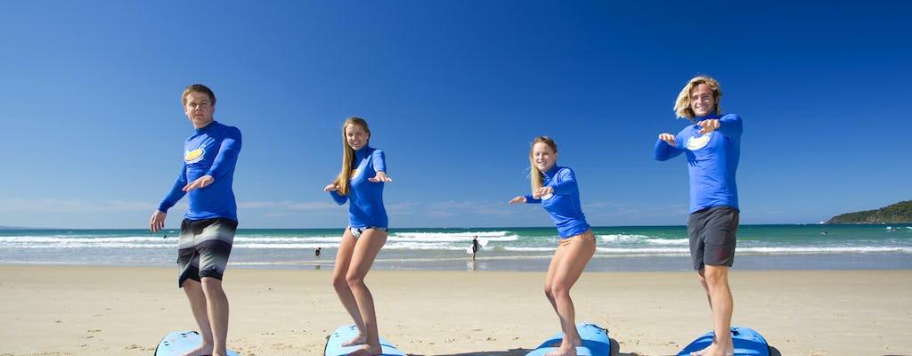 Lección de surf para principiantes en Anglesea