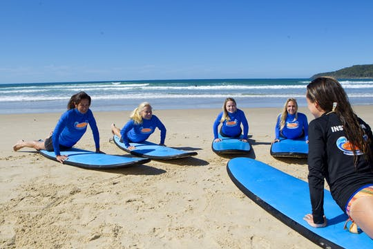 Surfing lesson for beginners at Torquay beach