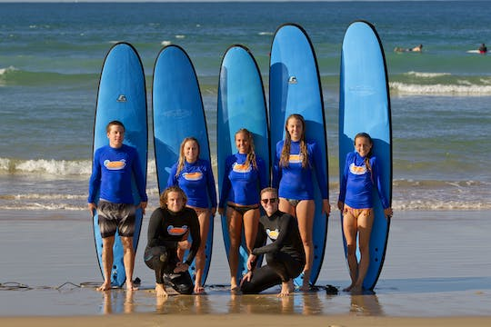 Surfing lesson for beginners at Noosa Heads