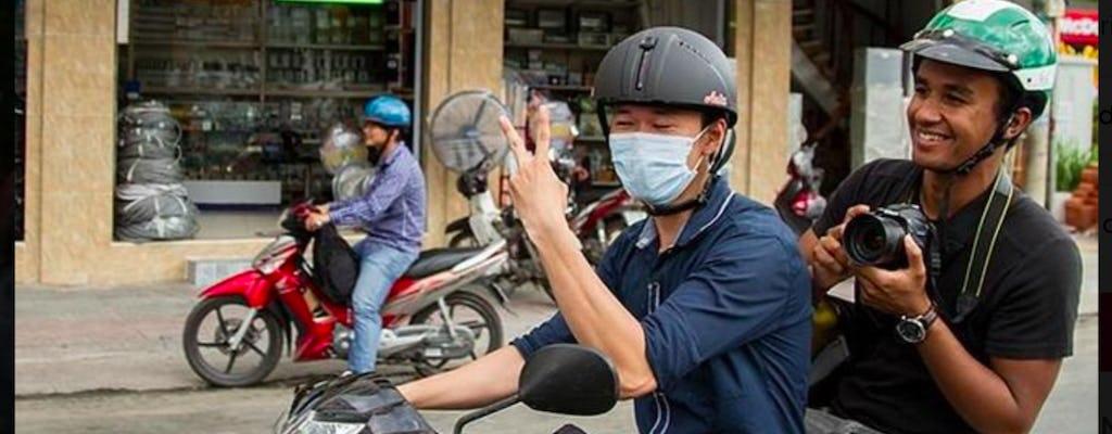 Wycieczka po lokalnej ulicy Ho Chi Minh City motocyklem