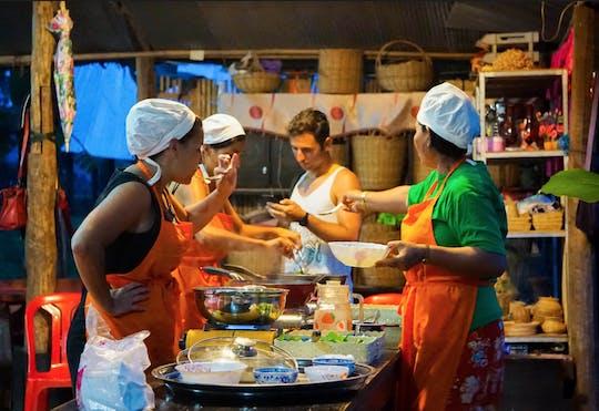 Aula de culinária de meio dia na aldeia