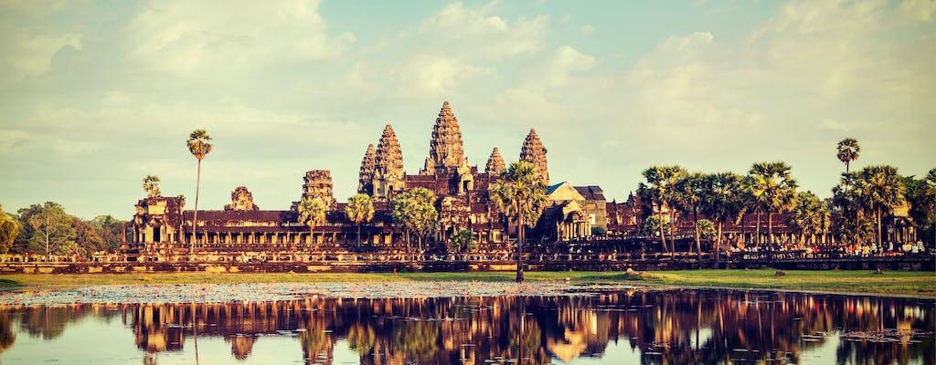 Templo de Angkor pela aventura de Vespa