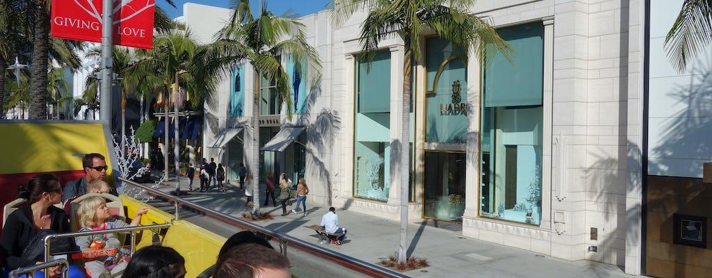 Hop-on, hop-off and Malibu Celebrity Homes tour combo ticket