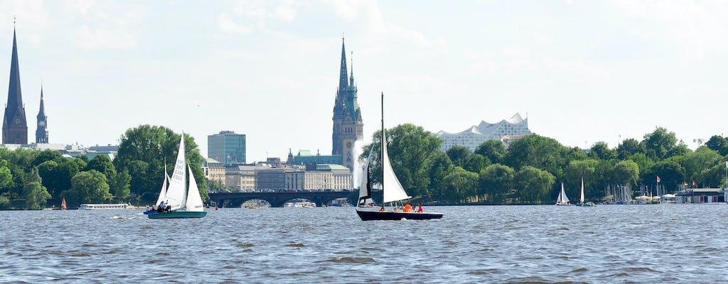 Rejs żaglówką z dwumasztowym kutrem na Alster w Hamburgu