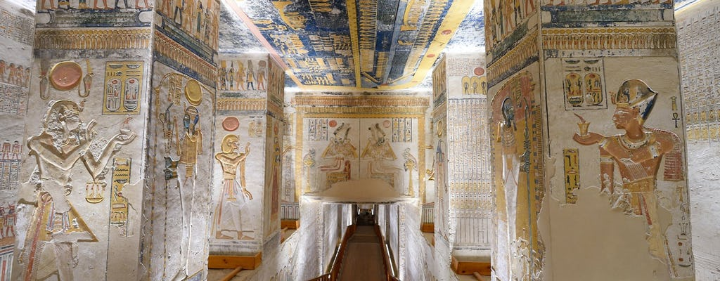 Guided tour to Valley of the Kings and Hatshepsut Temple plus Nile experience onboard a felucca from Luxor