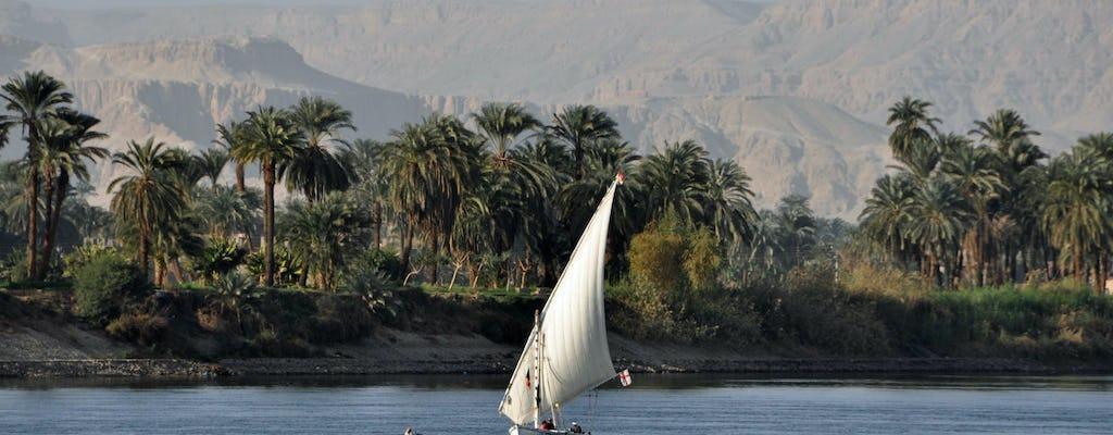 Sunset Banana Island Nil-Erlebnis an Bord einer Feluke von Luxor
