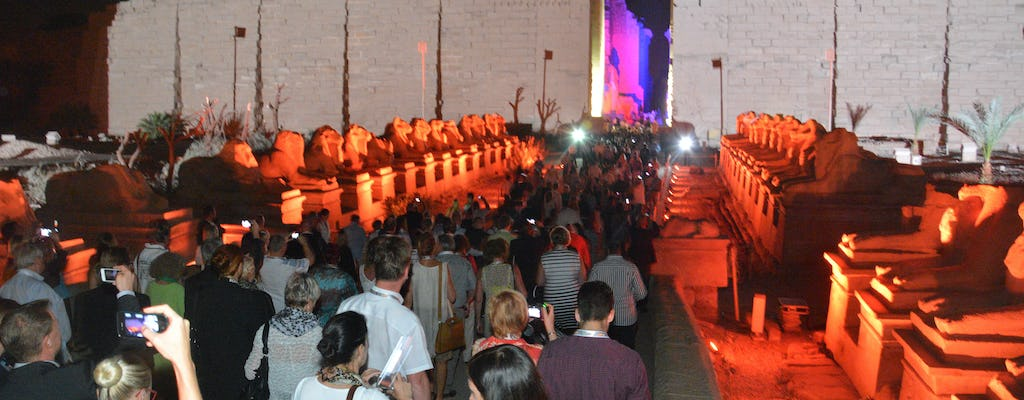 Sound and light show at the Karnak Temple from Luxor