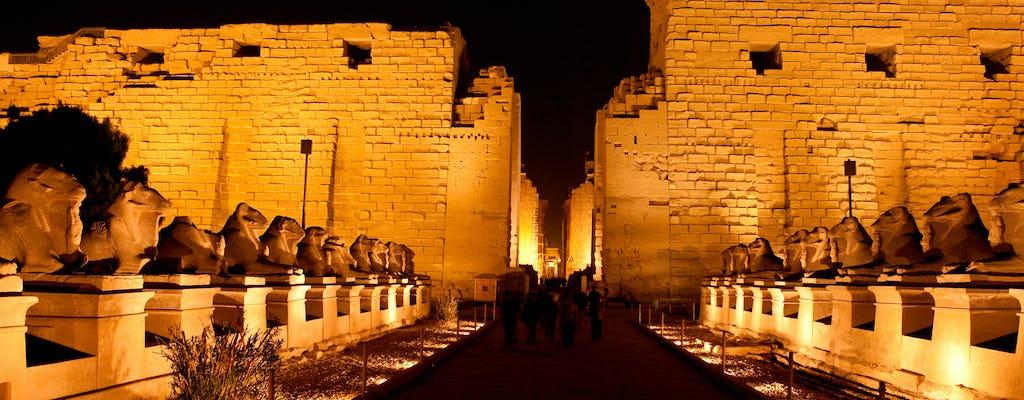 Ton- und Lichtshow des Karnak-Tempels mit einer Pferdekutsche von Luxor