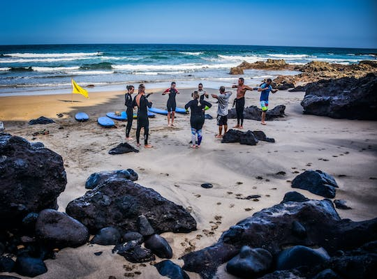 Surfing lessons in the south of Fuerteventura