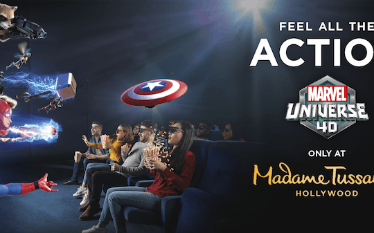 Madame Tussauds Hollywood admission tickets with Marvel 4D
