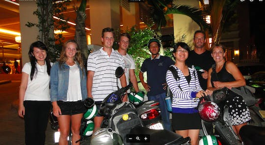 Ho Chi Minh City local food evening tour by motorbike