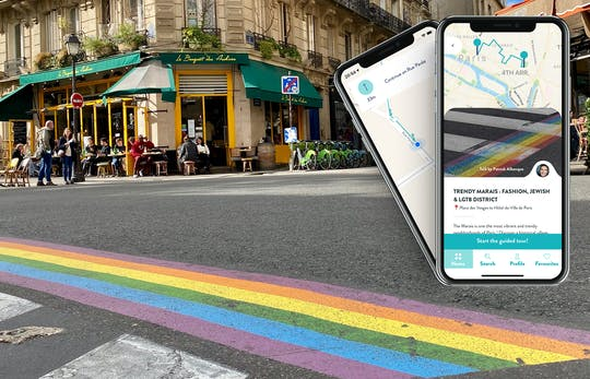 Trendy Marais tour with guide on your smartphone