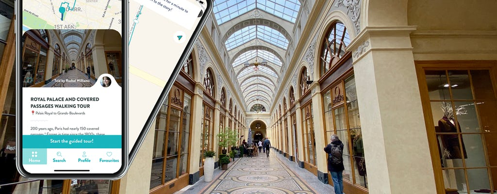 Palacio Real y pasadizos de París con una audioguía en tu móvil