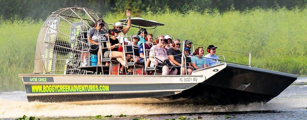 Поездка на воздушном катере по Болотистому ручью и деревня коренных американцев во Флориде