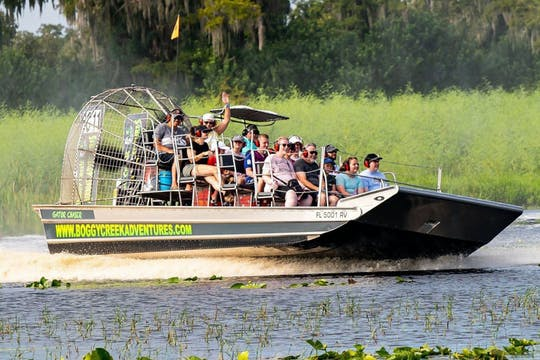 Giro in idroscivolante di Boggy Creek e villaggio di nativi americani in Florida