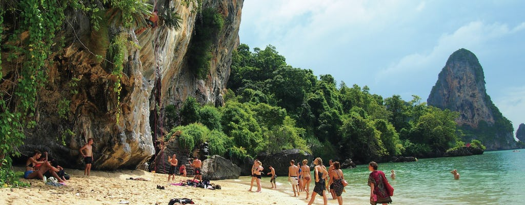Curso de escalada en roca de día completo en Railay Beach