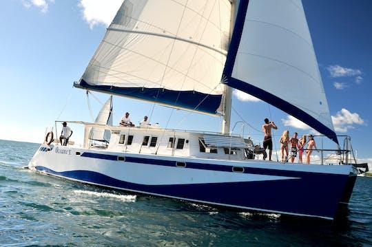 Mauritius west coast catamaran cruise