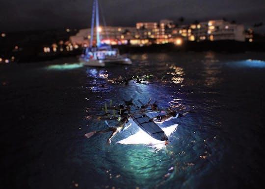 Опыт плавания с маской и трубкой поздней ночью