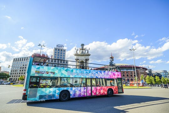 City Sightseeing hop-on hop-off bus tour of Barcelona